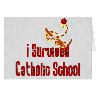 Sobrevivente da escola católica cartão comemorativo