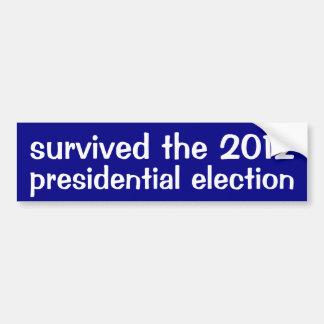 Sobreviveu à eleição 2012 presidencial adesivo para carro