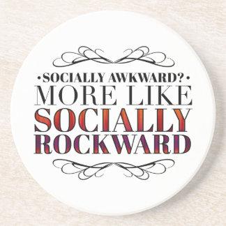 Social inábil? porta copos de arenito