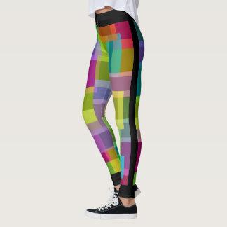 Socialite Rectangels colorido Leggings
