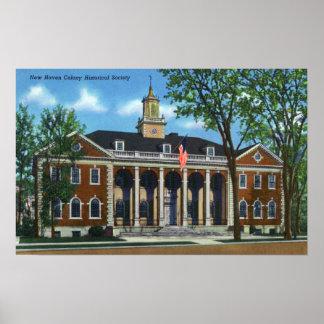 Sociedade histórica da colônia de New Haven Posteres