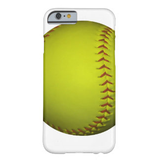 Softball alto do amarelo da visibilidade capa iPhone 6 barely there