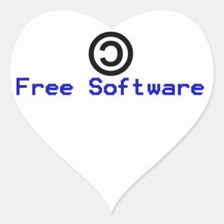 Software livre - copyleft adesivo coração