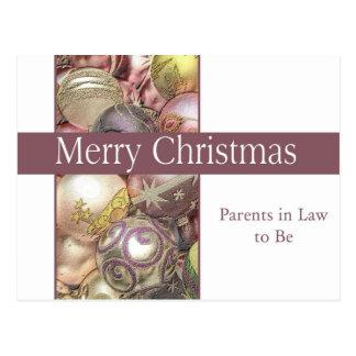 sogros a ser cartão do Feliz Natal Cartão Postal
