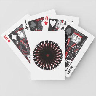 SOL do CÍRCULO dos cartões de jogo RED/BLACK da Jogo De Carta