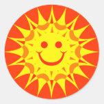 SOL DO SMILEY FACE ADESIVO