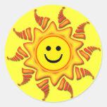 SOL DO SMILEY FACE ADESIVOS