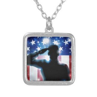 Soldado e bandeira dos Estados Unidos do herói Bijuterias