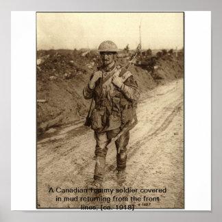 Soldado WW1 Impressão