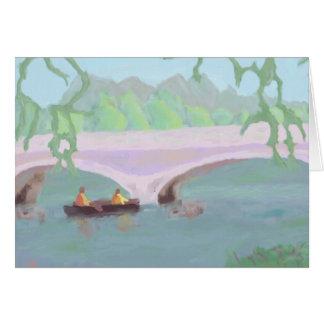 Solidão calma Canoeing, cartão