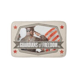 Solider-Guardião da liberdade Tapete De Banheiro