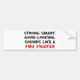 Som do bombeiro adesivo de para-choque
