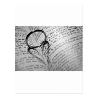 Sombra do coração da bíblia cartões postais