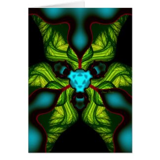 Sombras do demónio - esmeraldas e máscara amarela cartão comemorativo