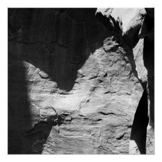 Sombras, uma foto abstrata em preto e branco poster perfeito