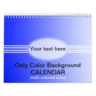 Somente calendário dos inclinações da cor - multi
