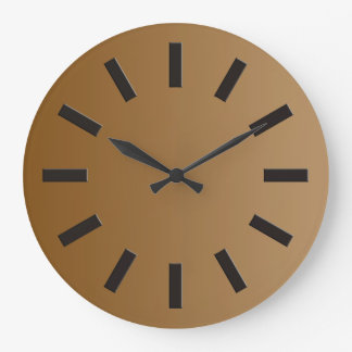 SOMENTE inclinações da COR - marrom + face do reló Relógios De Pendurar