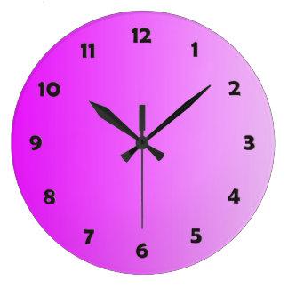 SOMENTE inclinações da COR - rosa do néon + face d Relógios De Pendurar