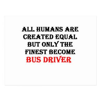 Somente o condutor de autocarro tornado o mais cartão postal