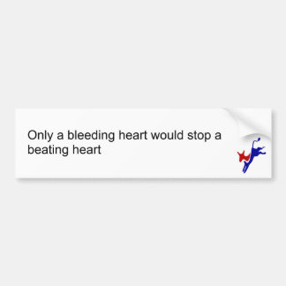Somente um coração de sangramento pararia um coraç adesivo para carro
