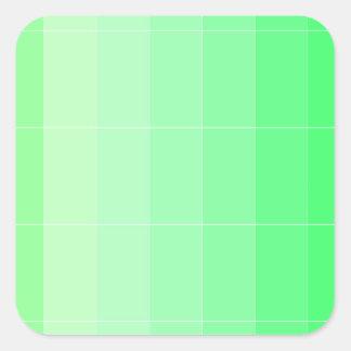 Somente verde amarelo Ombre da cor Adesivo Quadrado