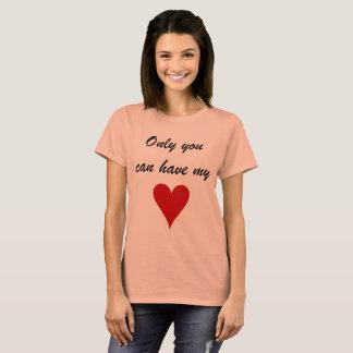 Somente você pode ter meu coração tshirt