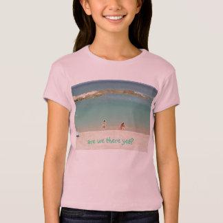 """""""somos nós lá ainda? da """"tshirt praia para miúdos camiseta"""