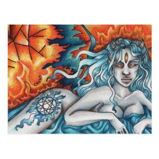 Sonhador do cartão eterno do fogo cartão postal
