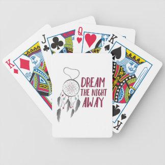 Sonho afastado baralhos para poker