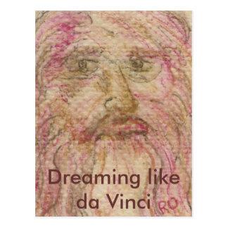 Sonho como da Vinci Cartão Postal