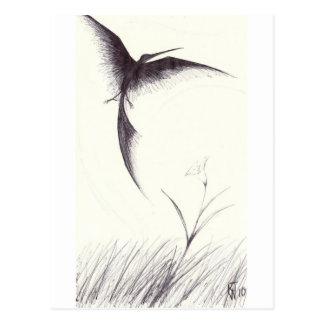 Sonho do pássaro cartão postal