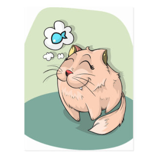 Sonho dos gatos cartão postal