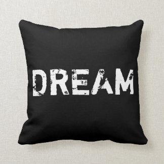 Sonho no travesseiro preto e branco