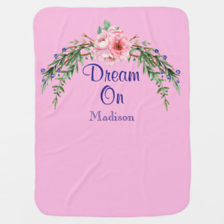 Sonho nos ganhos chiques da flor do país manta de bebe