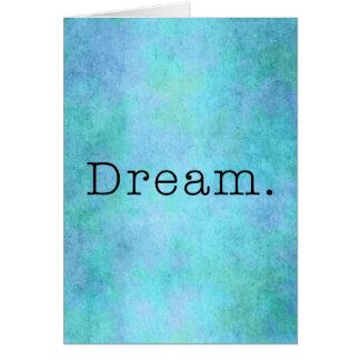 Sonho. Sonho azul do roxo de Seafoam do verde do A Cartão Comemorativo