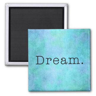 Sonho. Sonho azul do roxo de Seafoam do verde do A Ímã Quadrado