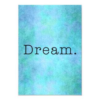 Sonho. Sonho azul do roxo de Seafoam do verde do Convite 8.89 X 12.7cm