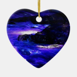 Sonhos Amethyst do indiano da safira Ornamento De Cerâmica Coração