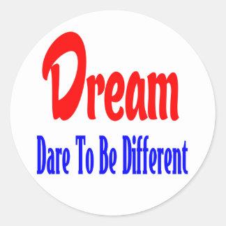 Sonhos, atitude. Citações inspiradores dos Adesivo
