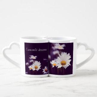 Sonhos da camomila conjunto de caneca de café