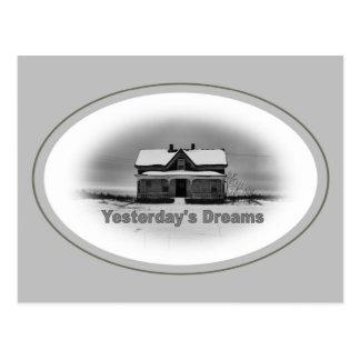 Sonhos de ontem cartão postal