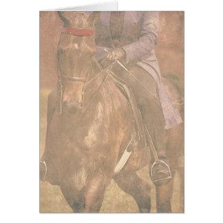 Sonhos de Saddlebred Cartão