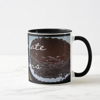 Sonhos do chocolate caneca