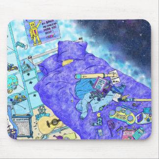 Sonhos do espaço do menino mouse pads