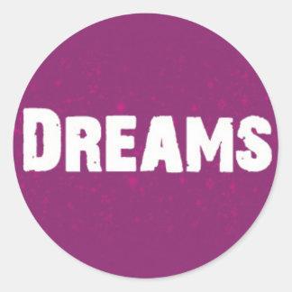 Sonhos no roxo adesivo