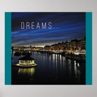 Sonhos - poster de viagem inspirador pôster