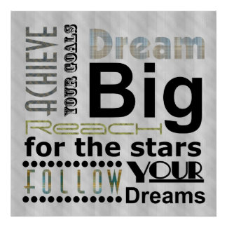 Sonhos realizáveis poster