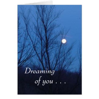 Sonhos românticos cartão comemorativo