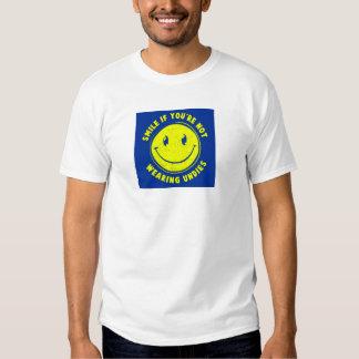 Sorria se… você não está vestindo a camisa da tshirt
