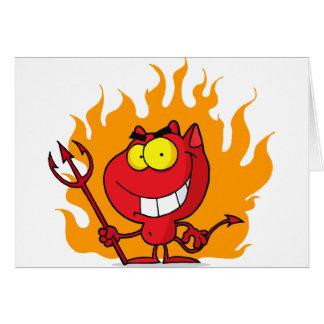 Sorrindo o diabo com Pitchfork Cartão
